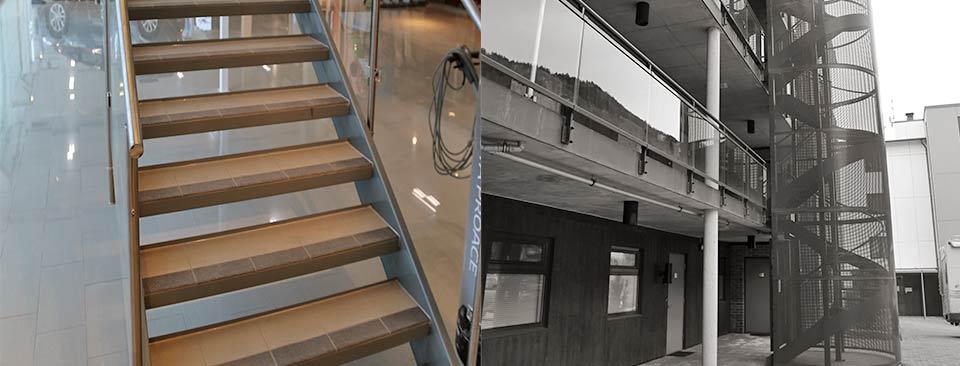 Trapper og rekkverk - Konstruksjon